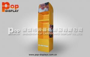 China Affichage de bruit ridé par jaune lumineux, support d'affichage d'aliment pour bébé de trois étagères on sale