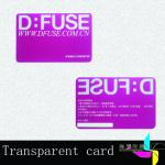 Hotel Magnetic Stripe Plastic Transparent Business Cards With Signature Panel