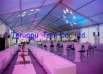 Outdoor large clear tent, clear span wedding marquee, 2000 person capacity big tent for outdoor events