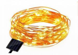 China Durable Solar Powered LED Fairy String Lights Dustproof With AA Battery Inside on sale