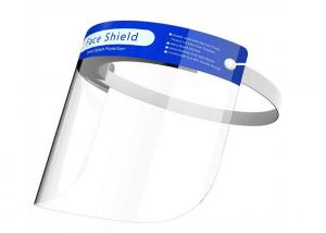China Disposable PET Face Shield Visor / Anti - Fog Face Mask With Eye Shield on sale