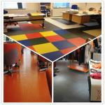 3W Anti Slip Indoor Office Interlocking Removable Plastic PVC Floorommg Tiles