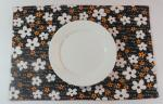 China Oriental Brown Floral Dining Table Mats Kitchen Table Placemats wholesale