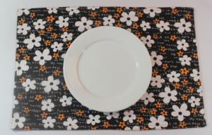 China Oriental Brown Floral Dining Table Mats Kitchen Table Placemats on sale
