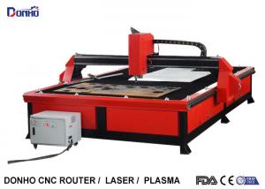 China Red Color Plasma Metal Cutting Machine with 2000 mm x 3000 mm Working Size on sale