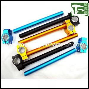 China R6 CNC Alloy Handlebar Yamaha Motorcycle Spare Parts Clip on Handle Bar , blue / golden / black on sale