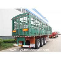 Carbon steel side wall trailer / 3 axle flatbed truck trailer for transport bulk cargo