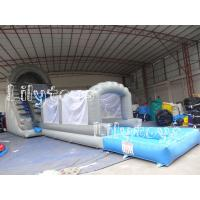 Water Inflatable Jumping Castles Slide For Rent , Kids Amusement Park Water Slide