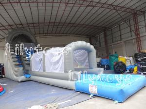 China Water Inflatable Jumping Castles Slide For Rent , Kids Amusement Park Water Slide on sale