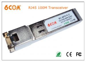 China 100Base-TX Copper RJ45 optical sfp transceiver Hot-pluggable , N/A 10M / 100M 100m on sale