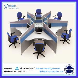 China 21 mm thick office cubicle workstations, small office cubicles for 6 persons on sale