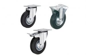 China 4 5 Rigid Plate PU Heavy Duty Swivel Casters For Racking System on sale