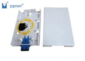 China Wall Mounted FTTH Distribution Box 2 Port Loaded 1 SC Duplex Adapter ABS Plastic on sale