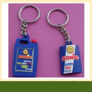 China OEM colorful custom rubber 3D soft pvc Keychain with factory price on sale