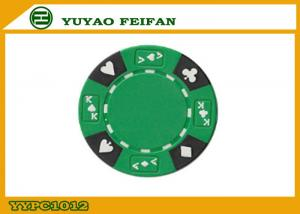 China Professional Composite 13.5 Gram Numbered Poker Chips With Custom Printed on sale