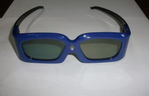 China 120Hz Rechargeable DLP Link 3D Glasses For 3D Ready Projector , Blue Black White on sale
