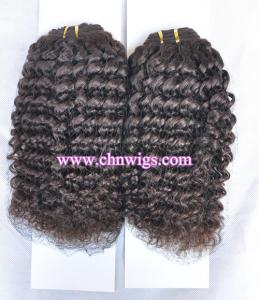 China Kinky curly weave Hair Extension on sale