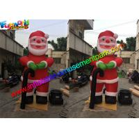 10 Feet Oxford Inflatable Santa Claus , Inflatable Father Christmas Balloons