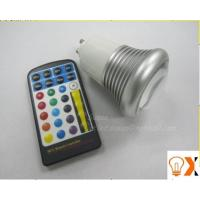 China Indoor 5w GU10/E27 RGB led color changing light bulb with remote 95mm×60mm on sale