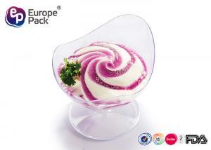 China 50ml Disposable Dessert Dishes Ps Mini Goblet For Dessert / Cake on sale