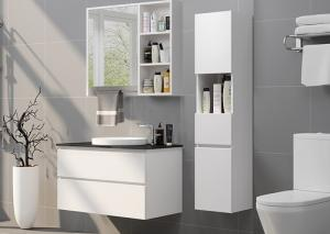 Classic Style White Modern Bathroom Vanities With Mirror Cabinets