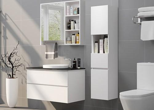 Classic Style White Modern Bathroom Vanities With Mirror