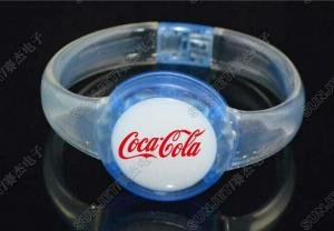 China New products 2014  low cost blinking silicone bracelet for promotion with your own logo on sale