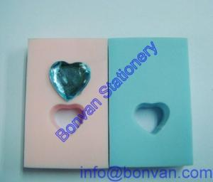 China crystal stone inside gift eraser, stone mount gift eraser for promotional use on sale
