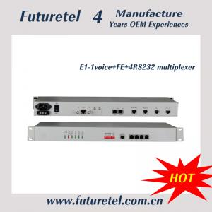 China e1 to 10/100M Ethernet 1 channel voice and 4channel data rs232/422/485 fiber optic network equipment. on sale