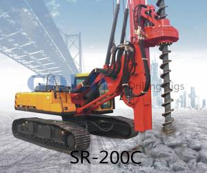 China 20m 800mm SR200M Rotary drilling rig caisson pile foundation on sale
