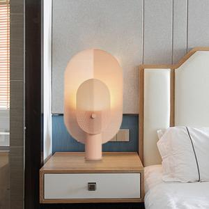 China Post-modern minimalist grid iron decorative table lamp living macaron lamp(WH-MTB-05) on sale