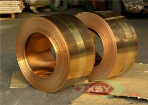 China Earthing Copper Strip Thick 0.05mm H70 CDA 14000 Series C7541 C7521 C7701 on sale