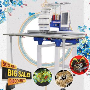 China 360*1200mm large flat single head computerised embroidery machine like brother embroidery machine computerized for cap t on sale