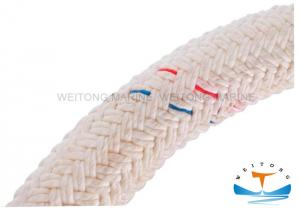 China Customized Double Braided Mooring Rope Red , Green , Yellow Color on sale