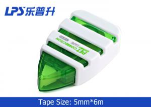 China LPS Mini Correction Tape Green Plastic 6M Correction Roller T-9752 Cute on sale