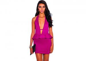 China Trendy Cute Evening Party Sexy Backless Dress Unique Neckline on sale