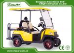 EXCAR CE Approved 48V Trojan Battery Powered Electric Golf Cart Yellow Colour