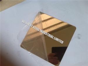 China Decorative Stainless Steel Sheet 316 304 201 PVD Coated Color Mirror on sale