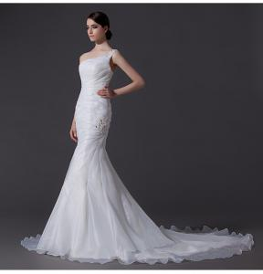China mermaid One Shoulder Wedding Gowns on sale