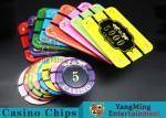 Crystal Acrylic Tiger Image Casino Poker Chips