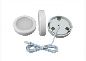 China Mini Slim Thin 12V LED Puck Light For Under Cabinet Lighting 80lm / W on sale