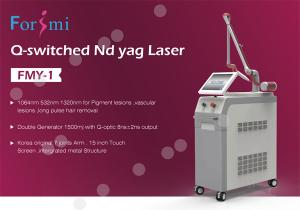 China Q-Switched Nd yag Laser Machine Factory Price White Color 15 Inch Touch Screen 1064nm 532nm 1320nm for pigment lesions on sale