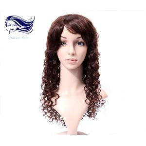 China Deep Wave 100 Human Hair Full Lace Wigs With Baby Hair Brazilian Hair on sale