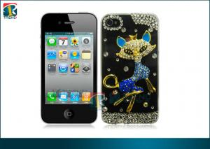 China Customized Fashionable Sparkly Fox Diamond Bling Hard Case For Iphone 4 / 4s OEM on sale