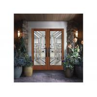 China Custom Wooden Door Glass , Theft Proof Bevel Translucent Glass Panels  On Sale .
