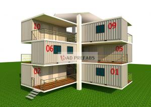 China Multi Function Stacked Container House , 40 Ft Mobile Home For Office on sale