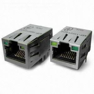 China 1-port Tab Up Transformer 1000M RJ45 Network Connector for Fiber Optic Transceivers on sale