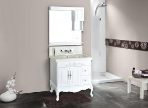 China wall vanity antique classical bathroom furniture sink on sale