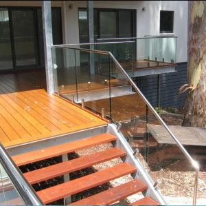 ... Quality Antirust Outdoor Metal Stair Railing With Tempered Glass And  Stainless Steel For Sale ...