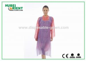 China Purple / Blue Lightweight Disposable Poly Aprons for Beauty Salon 70cm x 135cm on sale